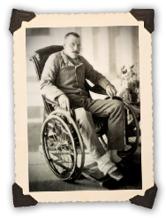 Piper Findlater convalescing in a Rawalpindi hospital
